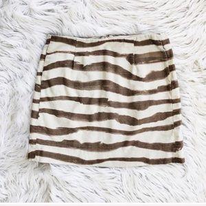 J. Crew zebra print mini skirt